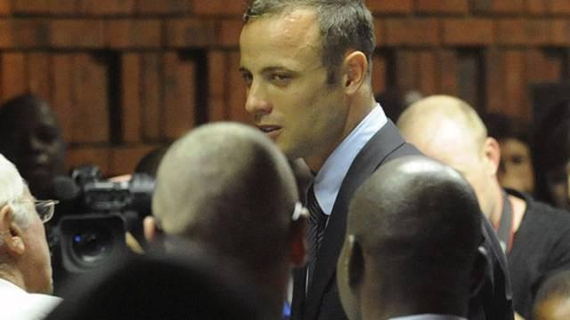 Oscar Pistorius nach der ersten Anhörung im Gericht