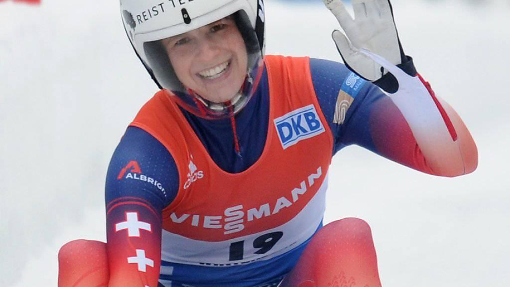 Martina Kocher freut sich über WM-Silber im Sprint