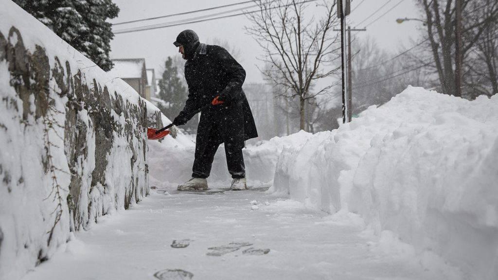 Wintersturm Ostküste Usa