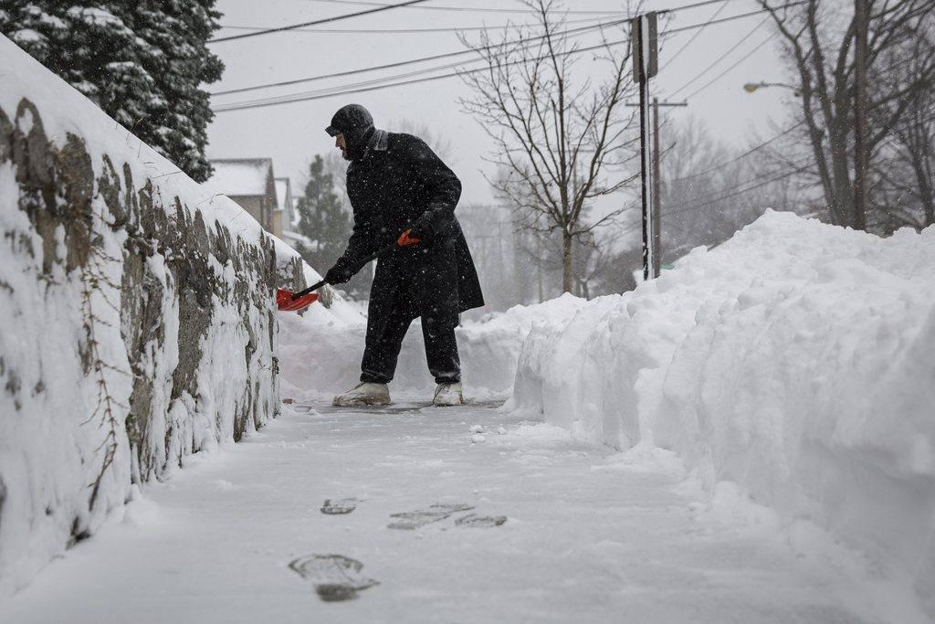 Blizzard an der US-Ostküste