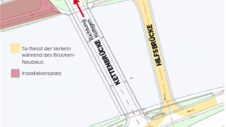«Pont Neuf»: So fliesst der Verkehr während des Brücken-Neubaus.