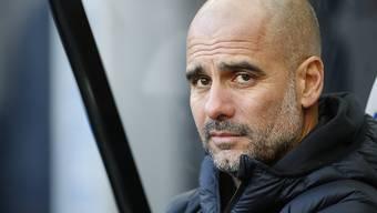 Pep Guardiola erlitt mit Manchester City einen Rückschlag im Rennen um die Titelverteidigung