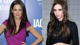 Stars an der Fashion Week: Katie Holmes und Victoria Beckham.