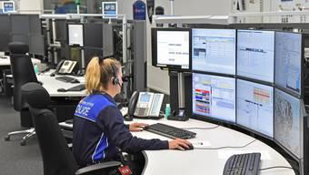 Einsatzleitzentrale der Transportpolizei SBB in Olten
