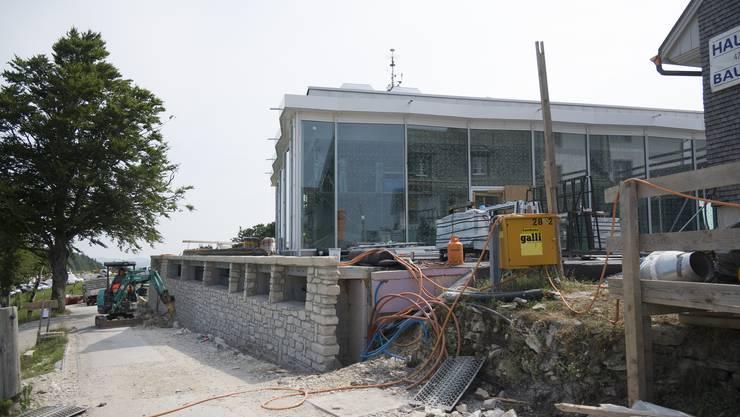 Im August wird das renovierte Kurhaus und die neue Panoramahalle auf dem Weissenstein eröffnet.