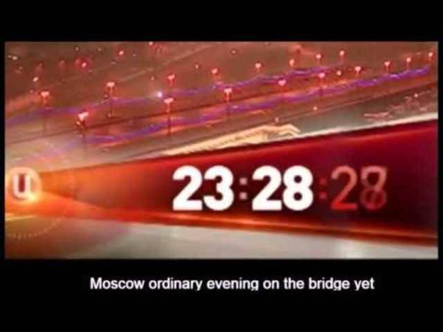 Mord an Boris Nemzow: Dieses Video soll eine Überwachungskamera während des Attentats aufgenommen haben.