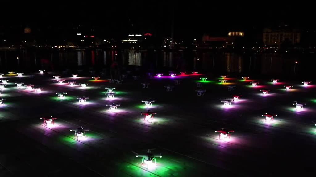Züri Fäscht: Premiere der Drohnenshow über dem Zürichsee
