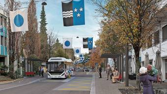 Die heutige Bushaltestelle Angelrainstrasse soll nicht neu gebaut werden (Visualisierung), sondern ganz wegfallen.