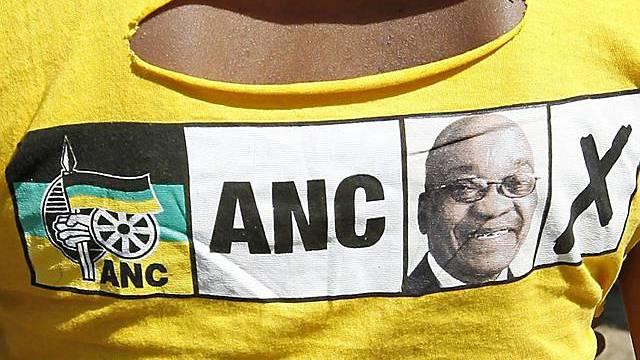 ANC-Wahlwerbung auf einem T-Shirt