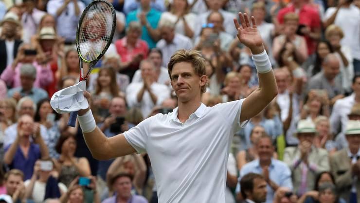 In der Weltrangliste nur Achter, in Wimbledon an Position 4 gesetzt: Kevin Anderson (Bild: Keystone).