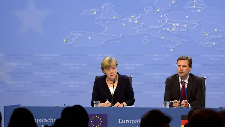 Für die deutsche Kanzlerin Angela Merkel sind Voraussetzungen für die Aufnahme von Verhandlungen mit Athen über ein ESM-Rettungsprogramm nicht gegeben.