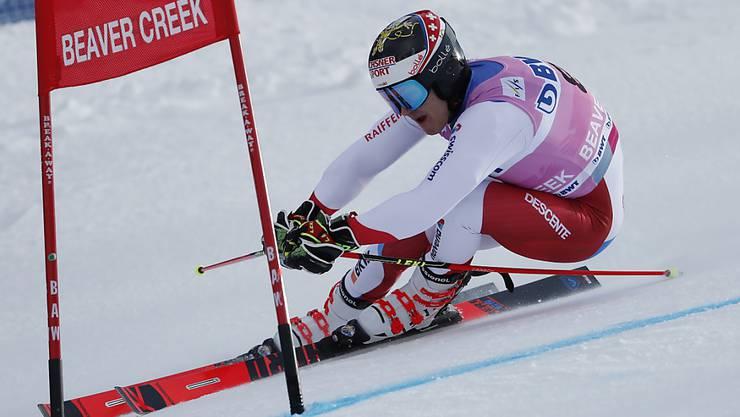 Loïc Meillard liegt nach dem ersten Lauf weniger als sechs Zehntel hinter dem führenden Deutschen Stefan Luitz