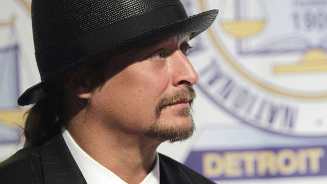 Der geehrte Musiker Kid Rock in Detroit