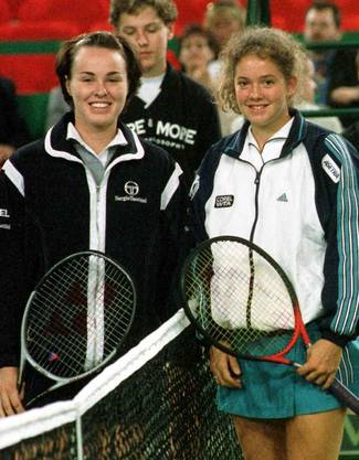 1998 mit Martina Hingis in München vor ihrem Spiel im Rahmen des Grand Slam Cups