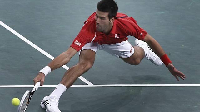 Da nützte alles Strecken nichts: Novak Djokovic ist in Paris ausgeschieden.