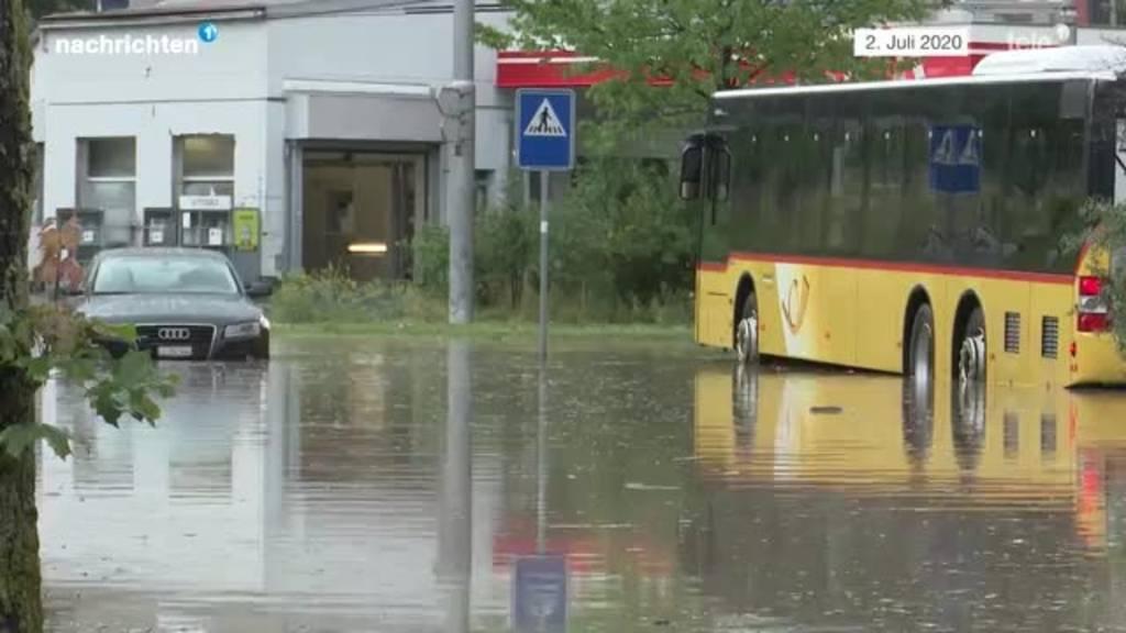 Massnahmen nach den Überschwemmungen im Würzenbach
