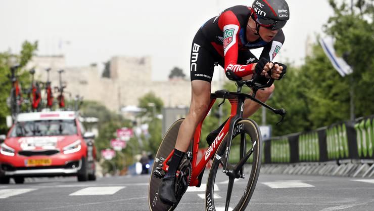 Der Schweizer Kilian Frankiny büsst 1 Minute und 20 Sekunden auf Sieger Dumoulin ein und wird 127.