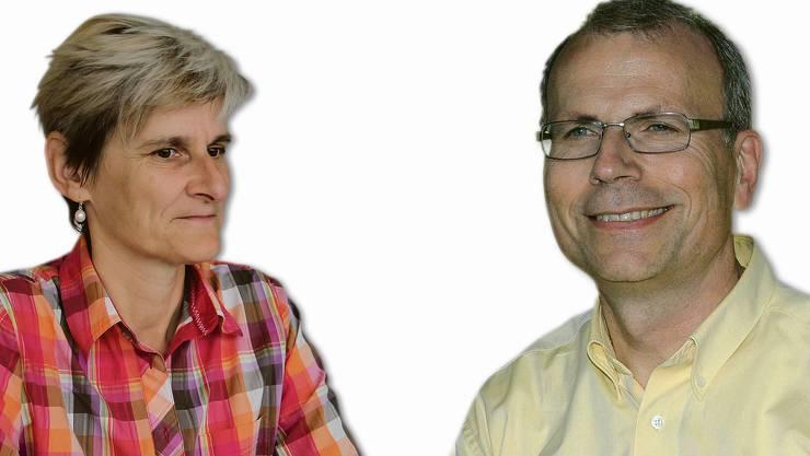 Heidi Ammon (SVP) und Heinz Wipfli (CVP) stellen sich dem Wahlkampf.