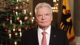 Joachim Gauck, hier an der Weihnachts-Ansprache