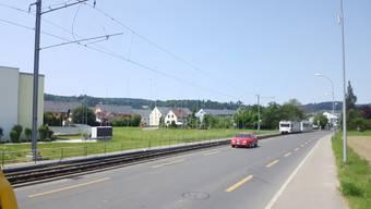 Für AAR WSB Bahnhof in Oberkulm Planungszone eingerichtet um geplanten Bahnhof.