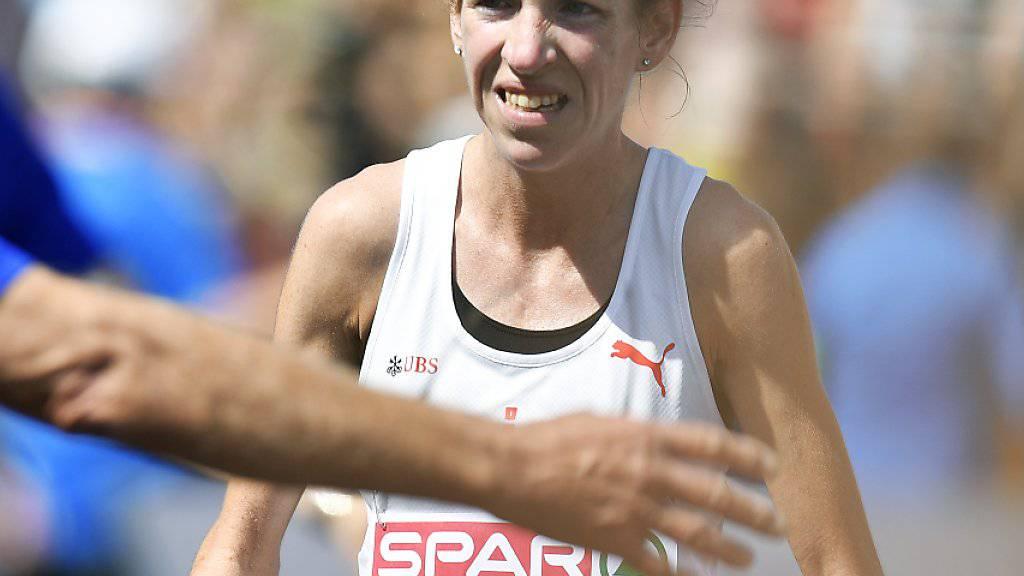 Martina Strähl triumphierte zum zweiten Mal am Jungfrau-Marathon