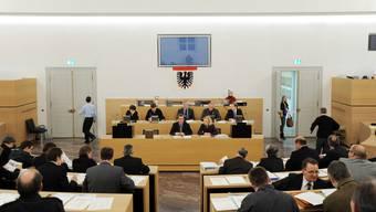 Der Einwohnerrat soll den Stadtrat ermächtigen, die Anschlussverträge der Stadt bei der Pensionskasse (PK) der Stadt Aarau auf Ende 2017 zu kündigen. Im Bild: der Stadtrat. (Archiv)
