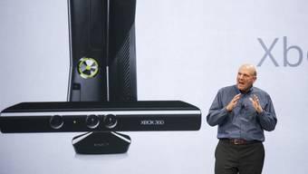 Microsoft-Chef Steve Ballmer bei der Vorstellung der Xbox 2012