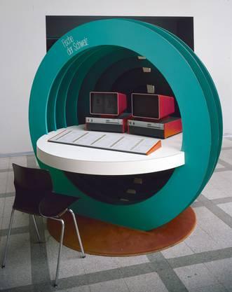 Der interaktive Fischtisch – in den 1980er-Jahren das Modernste in der Museumswelt