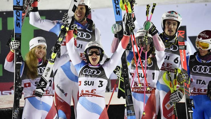 Team-Gold sei Dank: Die Schweiz gewinnt den Medaillenspiegel ex aequo mit Norwegen.
