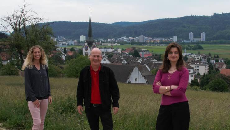 Carol Demarmels, Max Chopard-Acklin und Mia Jenni (v.l.)