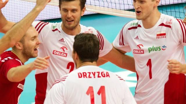 Polens Volleyballer feiern den WM-Triumph
