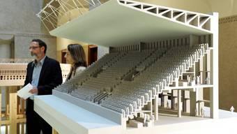 Ausstellung über das Stadion Zürich im Amtshaus IV