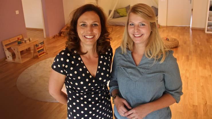 Corinne Welzenbach-Egger (l.) und Fabienne Burgy freuen sich über den Ausbau.
