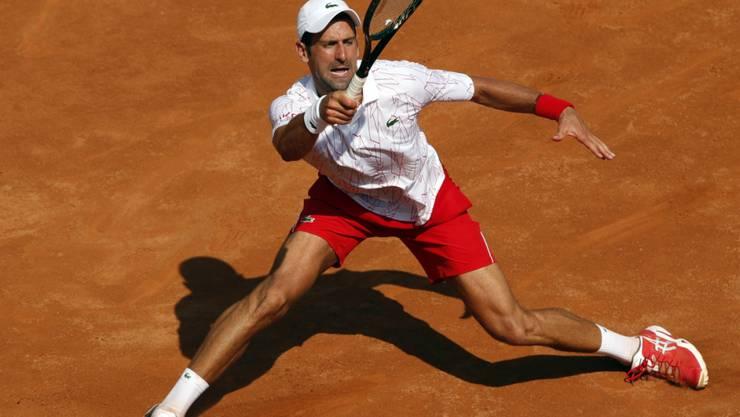 Novak Djokovic zeigt sich in Rom vom Eklat der US Open spielerisch unbeeindruckt