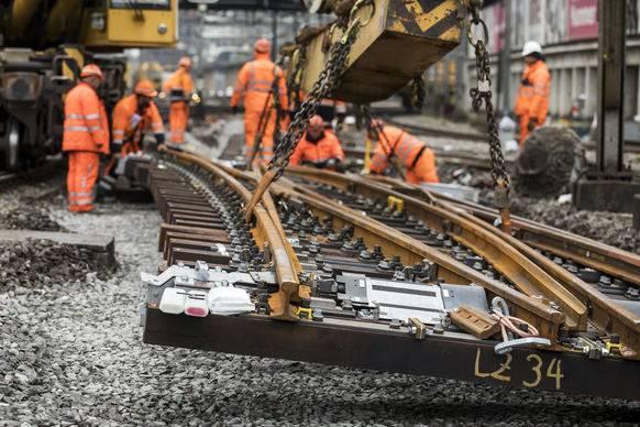 Nächstes Jahr kämpft die SBB mit besonders vielen Baustellen.