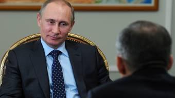 Putin im Gespräch mit Minnichanow
