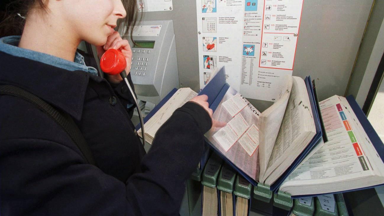 Telefonbuch Telefonkabine