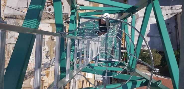 Über 200 Leitersprossen führen nach Oben