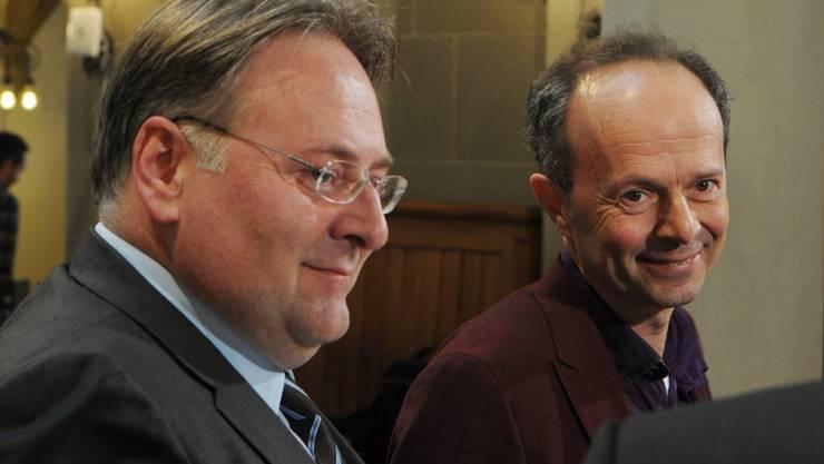 Die Stadtratskandidaten Marco Camin, links, und Richard Wolff, rechts.