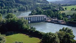Hier beim Rheinkraftwerk Albbruck-Dogern wurde die Babyleiche angetrieben.