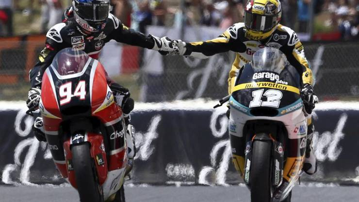 Jonas Folger und Tom Lüthi: Dieses Duell wie 2015 in der Moto2 wird es 2018 in der MotoGP nicht geben