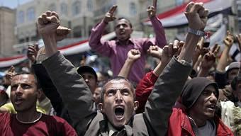 Regierungsgegner demonstrieren in der Hauptstadt Sanaa