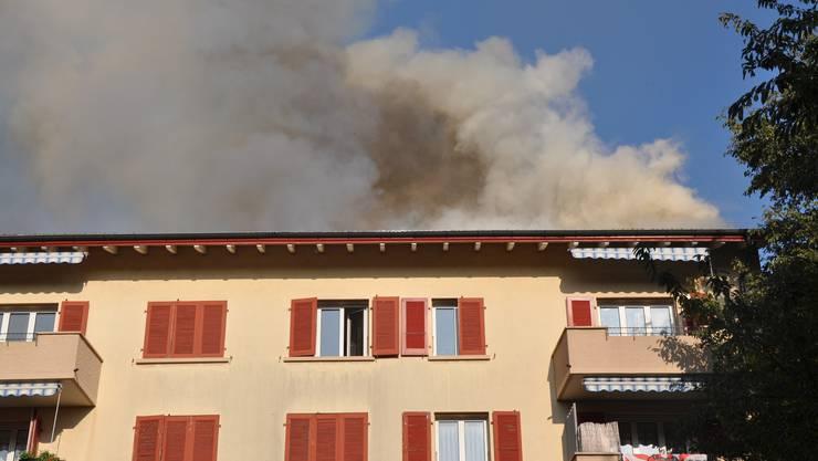 Brand in einem Zürcher Dachstock. (Symbolbild)