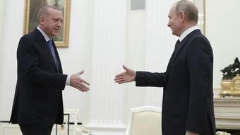 Der russische Präsident Wladimir Putin hat sich am Donnerstag zu Gesprächen über die angespannte Lage im syrischen Idlib mit seinem türkischen Amtskollegen Recep Tayyip Erdogan getroffen.
