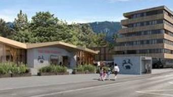 Der geplante Besucherbereich mit dem Wohnhaus