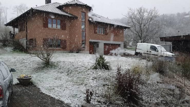Auch in Magden gib es Schnee, berichtet uns unser Radio Hörer Kai.