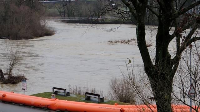 Hochwasser: Die Lage am Dienstagvormittag in Brugg