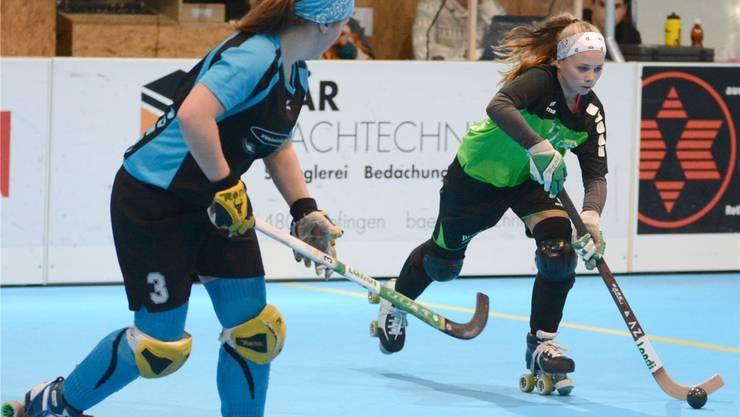 Nadele Moor (rechts) und ihre Teamkolleginnen des RHC Vordemwald wollen den Final 4-Titel verteidigen.