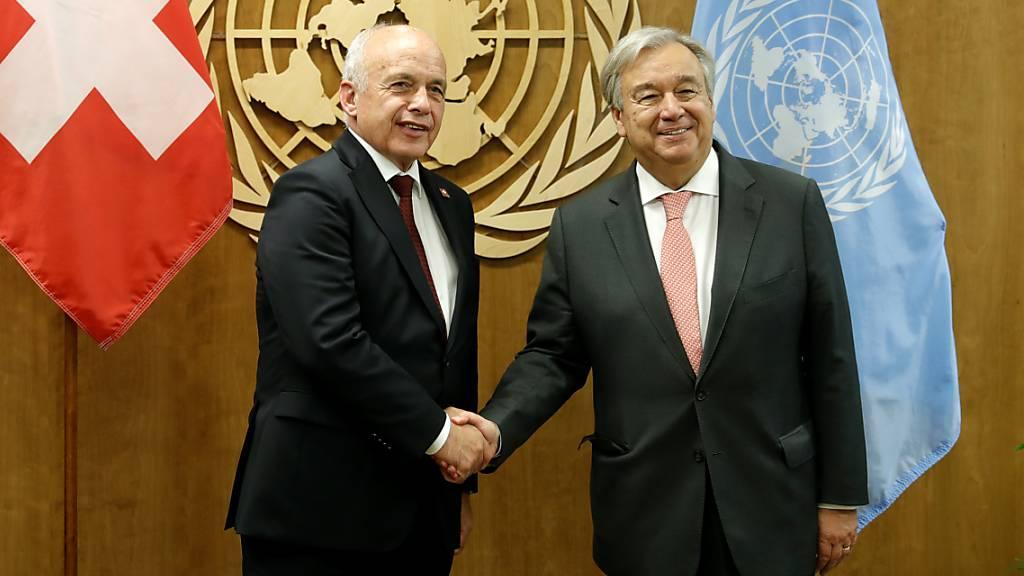 Maurer und Guterres sprechen über Klimawandel