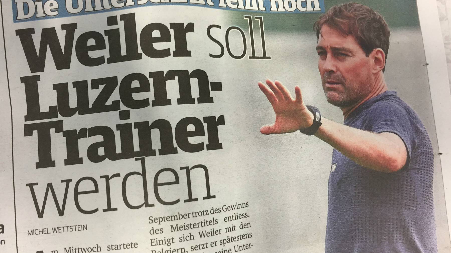 Wird René Weiler neuer FCL-Trainer?